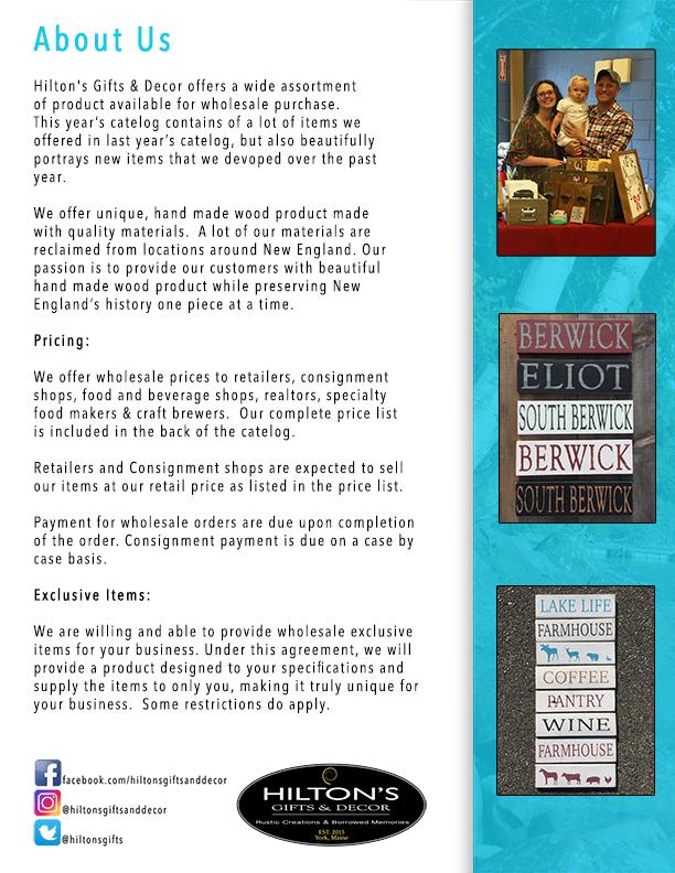 Wholesale Catalog Hilton S Gifts Decor